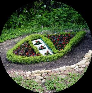 Wappen Appenheim Blumenbeet