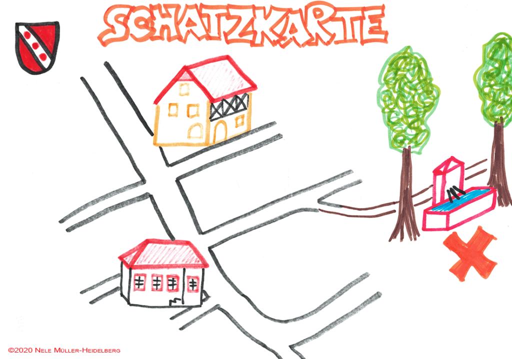 Schatzkarte Nummer 1 - Corona - Schutzsuche in Appenheim